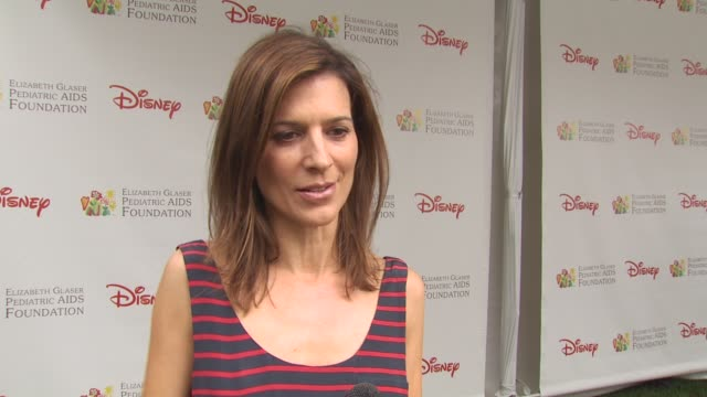 perrey reeves on importance of charity event and what she is working on for event at the 21st annual 'a time for heroes' celebrity picnic benefit at... - a time for heroes stock videos & royalty-free footage