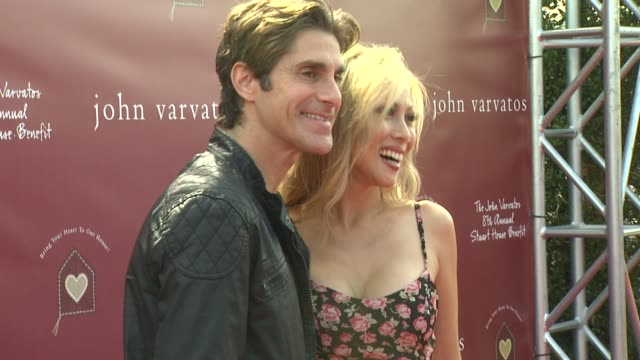 perry farrell & etty at the john varvatos 8th annual stuart house benefit at los angeles ca. - perry farrell stock videos & royalty-free footage
