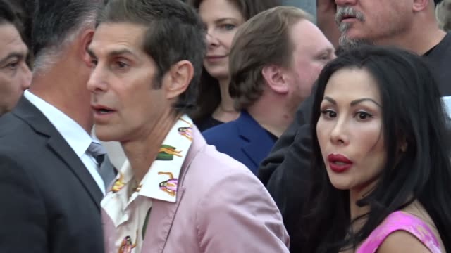 perry farrell & etty lau farrell arrives at 'andy iron's: kissed by god' premiere in celebrity sightings in los angeles, - perry farrell stock videos & royalty-free footage