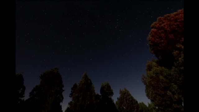 perseid meteor shower is observed on august 13 2018 in kutahya western province of turkey - meteor weltall stock-videos und b-roll-filmmaterial