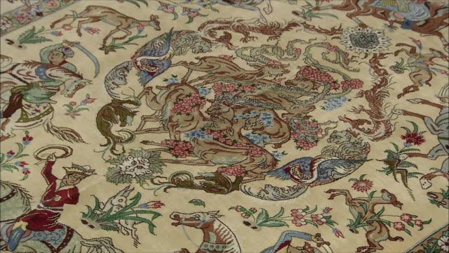 cu zi persian carpet, iran - rug stock videos & royalty-free footage