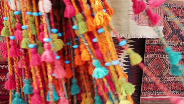 persian rug market in isfahan, iran - weaving stock videos & royalty-free footage
