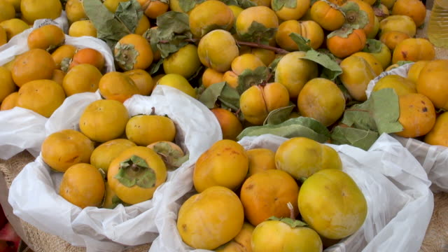 Persimmons sold at Farmers Market