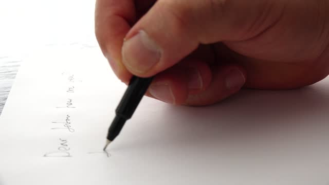 person hand writing a letter - biography stock videos & royalty-free footage