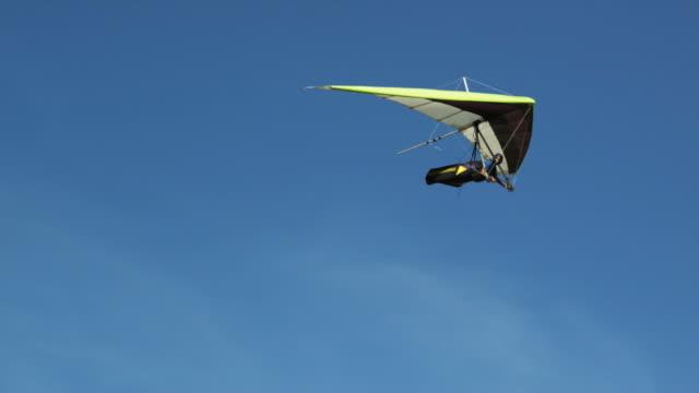 WS PAN POV Person hang gliding / Lehi, Utah, USA.