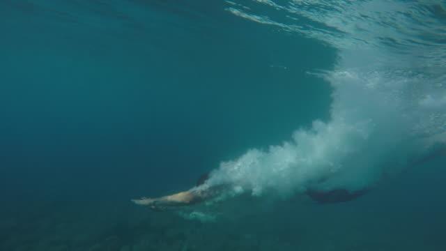 vídeos y material grabado en eventos de stock de persona a pov en el agua esperando a un amigo a saltar - lanzarse al agua