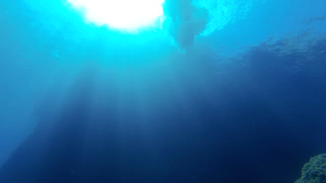 SLO MO Person Jumping Into The Sea
