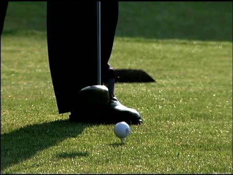 person playing golf - golfgreen bildbanksvideor och videomaterial från bakom kulisserna