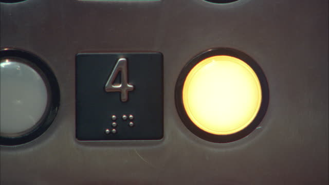 ecu person pressing elevator button, los angeles, california, usa - braille stock videos & royalty-free footage
