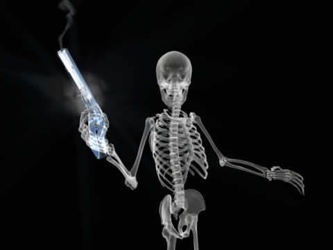 person shooting gun - biomedizinische illustration stock-videos und b-roll-filmmaterial