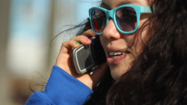person talking on phone - one teenage girl only stock videos & royalty-free footage