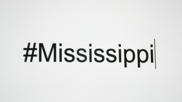 """a person types """"#mississippi"""" on their computer screen and then follows with the state abbreviation - jackson stock videos & royalty-free footage"""