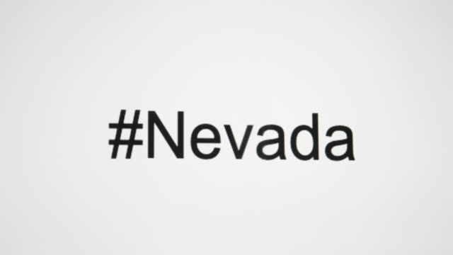 """a person types """"#nevada"""" on their computer screen and then follows with the state abbreviation - casino font stock videos & royalty-free footage"""