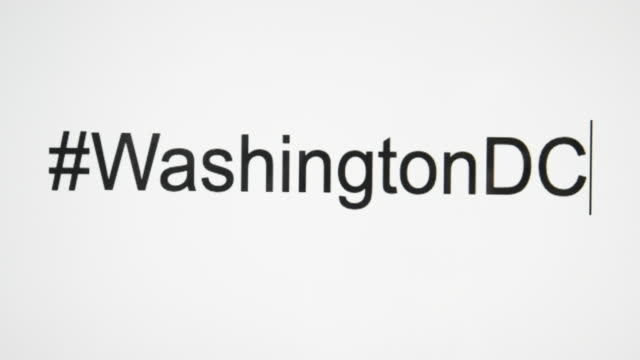 "a person types ""#washingtondc"" on their computer screen - us president stock videos & royalty-free footage"