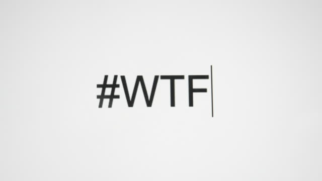 "a person types ""#wtf"" on their computer screen - text stock videos & royalty-free footage"
