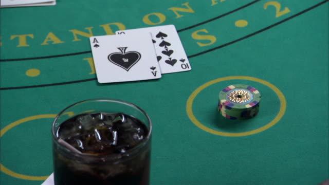 person winning blackjack - blackjack stock videos and b-roll footage