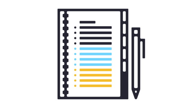 vídeos de stock e filmes b-roll de personal agenda line icon animation - agenda de telefones