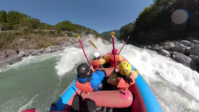personal point of view of a white water river rafting excursion - whitewater rafting stock videos & royalty-free footage