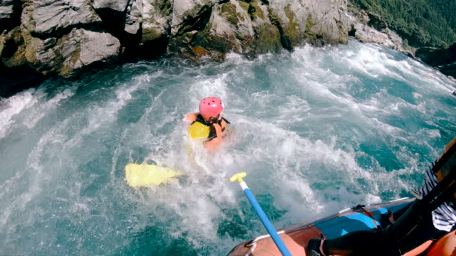 personal point of view of a white water river rafting excursion - rafting stock videos and b-roll footage