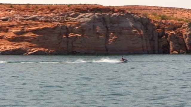 personal watercraft on lake powell - lake powell stock videos & royalty-free footage