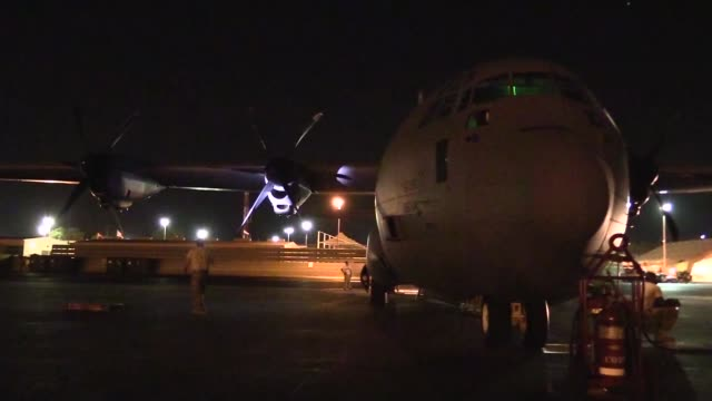 us personnel from the 75th expeditionary airlift squadron and the 37th airlift squadron conduct c130j super hercules cargo operations in east africa... - horn of africa stock videos & royalty-free footage
