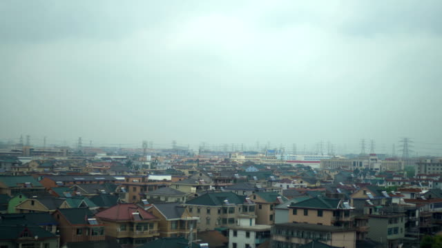 perspective from a train - hangzhou city, china - hangzhou stock videos & royalty-free footage