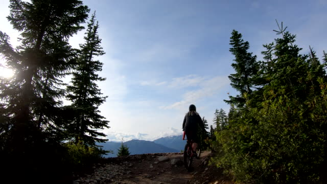 pov perspective of mountain biker descending trail - trail ride stock videos and b-roll footage