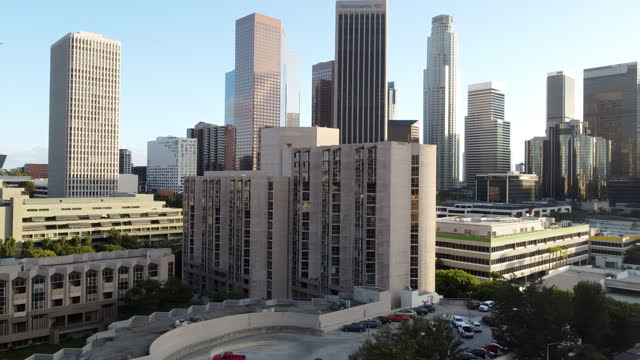 perspective of the los angeles downtown area. - 360 stock videos & royalty-free footage