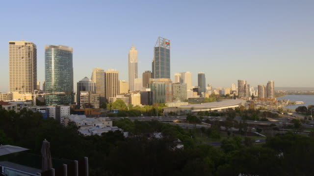 perth cityscape - geographical locations stock videos & royalty-free footage