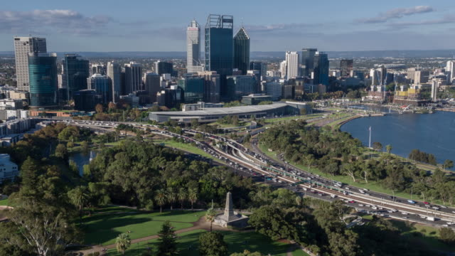perth, western australia, australia - financial district stock videos & royalty-free footage