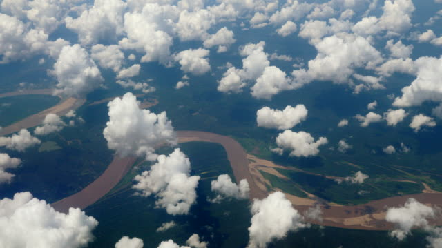 Peru, Amazon basin, aerial view from the air, close to Iquitos