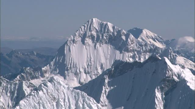 Peru Andes Looking down at Santa Cruz.