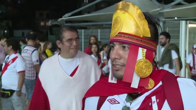 peru fans celebrate after their team won its copa america quarter final match against uruguay on penalties when goalkeeper pedro gallese blocked luis... - quarterfinal round stock videos & royalty-free footage