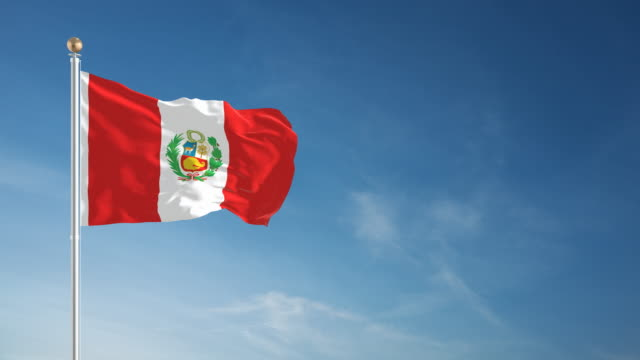 4K Peru Flag - Loopable
