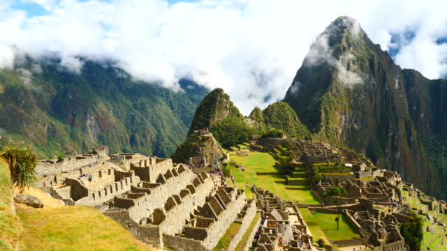 peru, machu pichu, general view of the archaeological site - unesco world heritage site stock videos & royalty-free footage