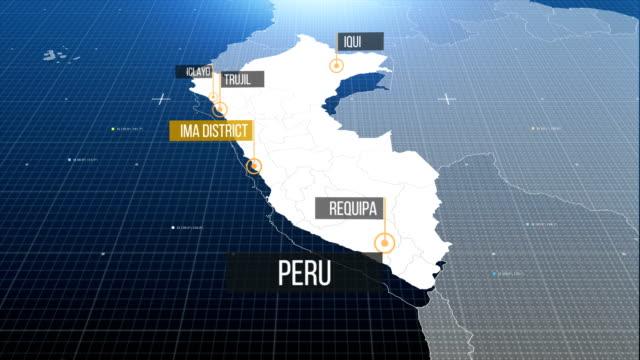 vídeos y material grabado en eventos de stock de mapa de perú - peruano
