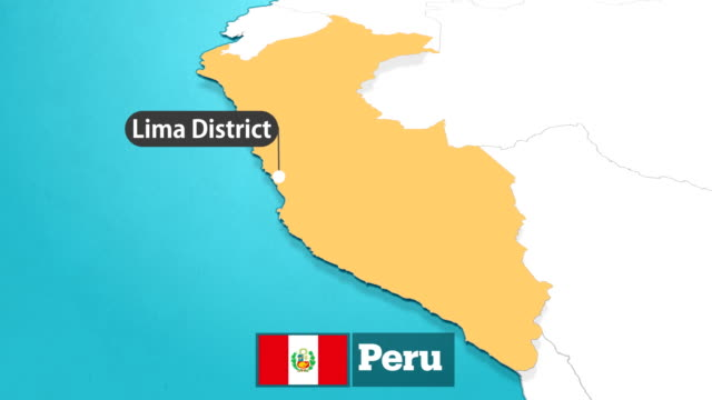 peru map with flag - peru stock videos & royalty-free footage
