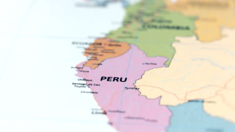south america peru on world map - north stock videos & royalty-free footage