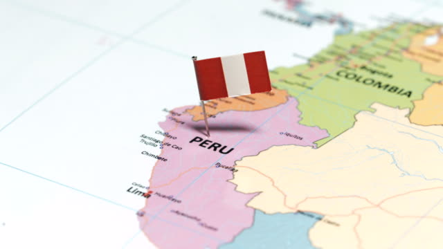 peru with national flag - lima peru stock videos and b-roll footage