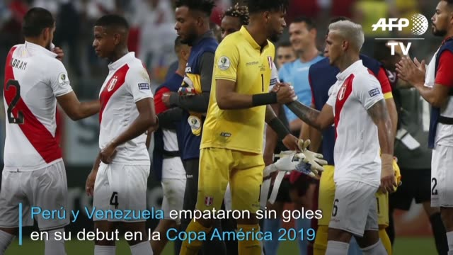 peru y venezuela firmaron un empate sin goles el sabado en un duelo disputado en porto alegre por el grupo a de la copa america que estuvo marcado... - alegre stock videos & royalty-free footage