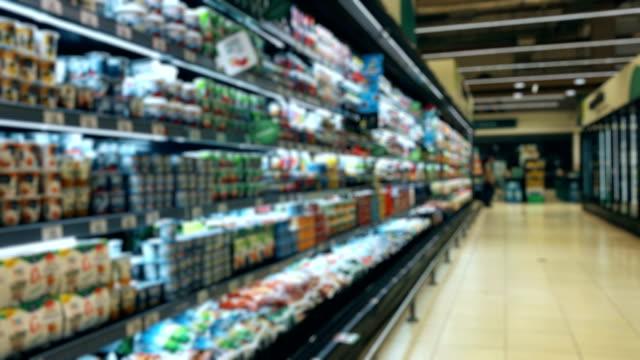 vídeos y material grabado en eventos de stock de pasillo de supermercado peruano de lácteos - pasillo objeto fabricado