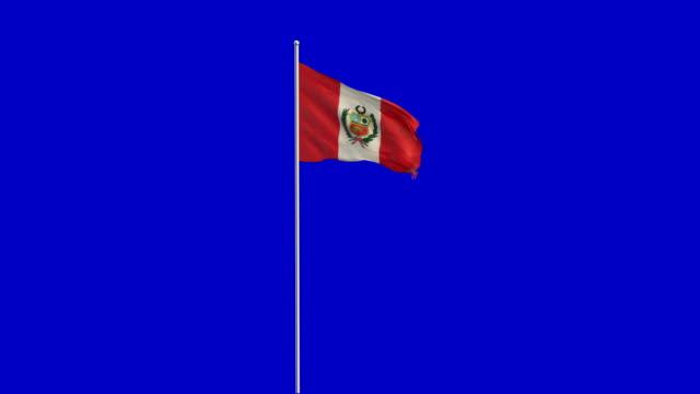 peruanische Flagge Rising