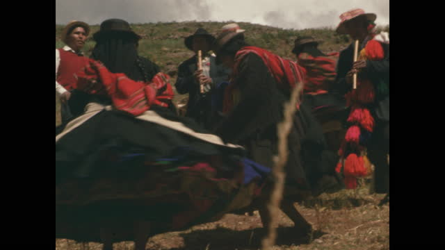 peruvian musicians and dancers perform with a swirl of skirts - traditional clothing stock videos & royalty-free footage