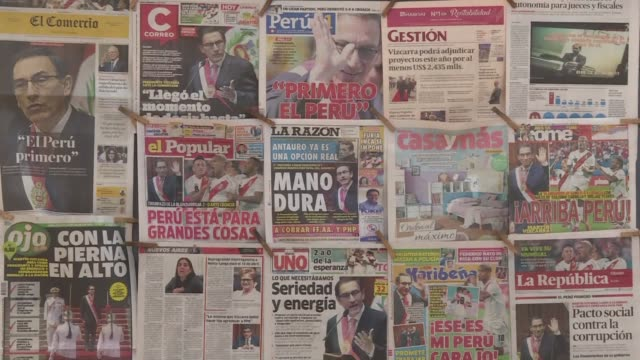 peruvian political analyst luis benavente considers the new president martin vizcarra to be non confrontational unlike his predecessor kuczynski who... - martín vizcarra stock videos & royalty-free footage