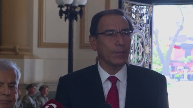 peruvian president martin vizcarra says his government must strictly abide by the constitution and its laws as he expects to deliver a bill to... - martín vizcarra stock videos & royalty-free footage