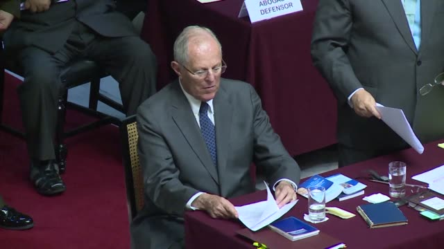 Peruvian President Pedro Pablo Kuczynski makes a lastditch effort to stave off impeachment appearing before lawmakers to deny allegations of...