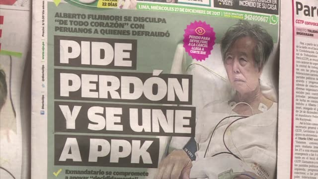 peruvians are divided after the current president pedro pablo kuczynski announced a pardon for former president alberto fujimori who had been serving... - peruvian ethnicity stock videos and b-roll footage