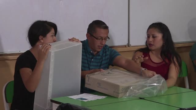 peruvians began casting their ballots sunday in the countrys general elections - peruvian ethnicity stock videos & royalty-free footage