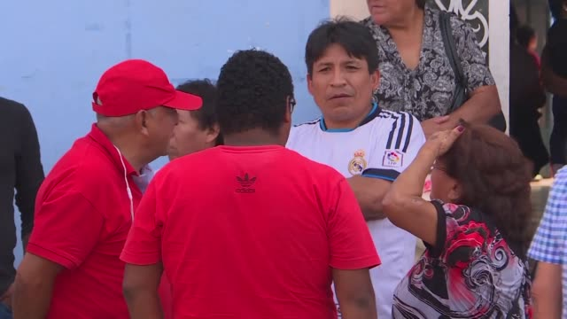 stockvideo's en b-roll-footage met peruvians express disbelief and sadness at the death of former president alan garcia who died in hospital after shooting himself in the head at his... - former