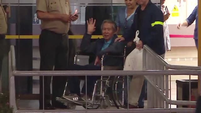 peruvians expressed mixed reactions to alberto fujimori leaving the hospital a free man late thursday after receiving a controversial pardon by... - peruvian ethnicity stock videos and b-roll footage